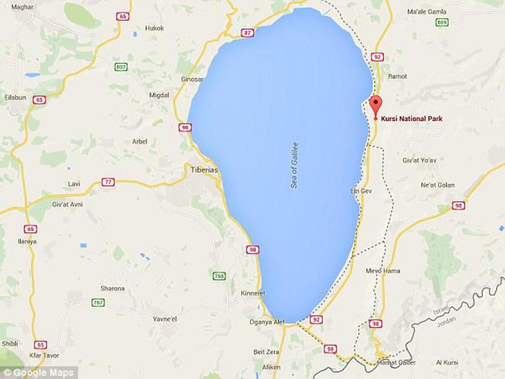 Mapa que muestra el lugar exacto del hallazgo