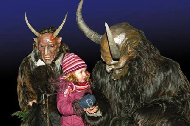 Krampus-with-girl
