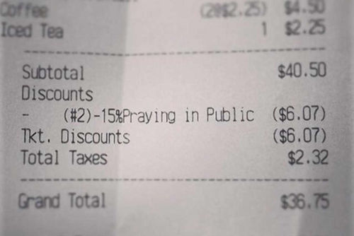 diner-offers-15-discount-praying
