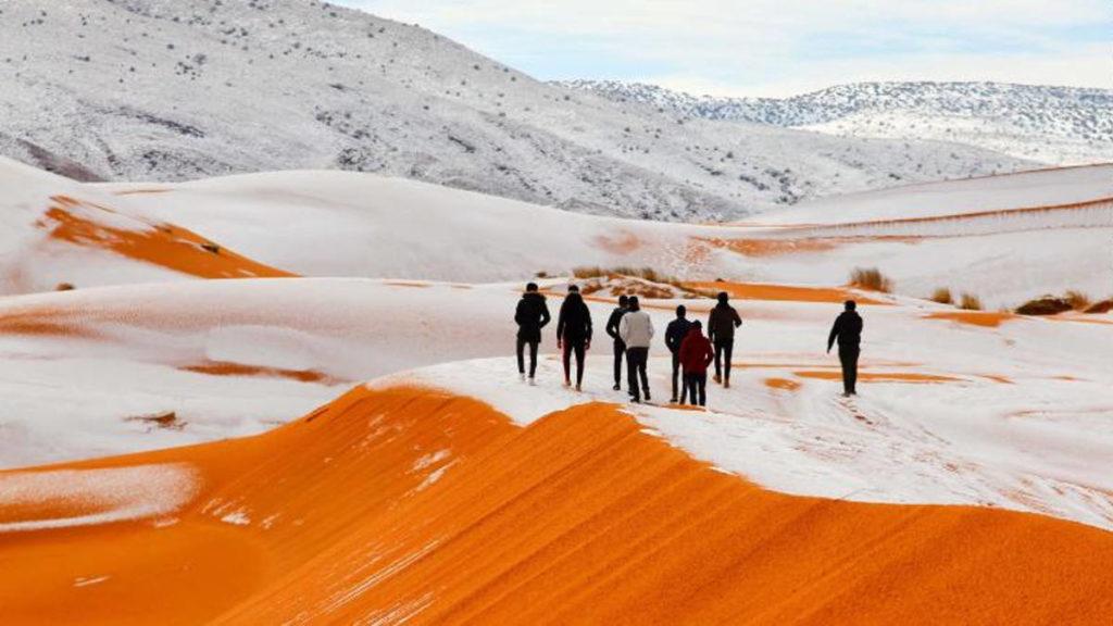 Nieve en el desierto. Profecía de Isaías.